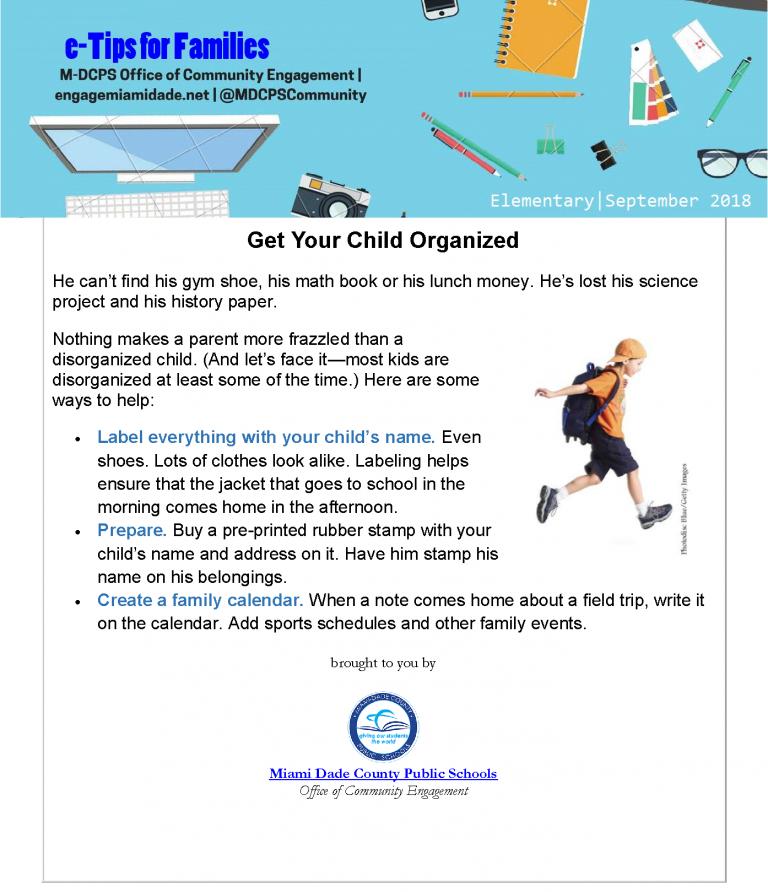 September e-Tips for Families