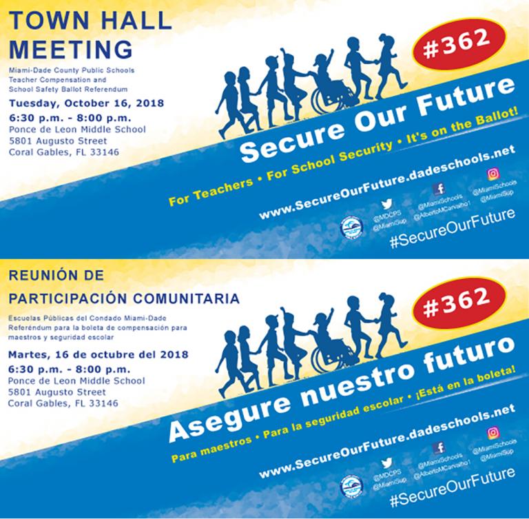 Ponce de Leon Town-Hall-10.16 English and Spanish