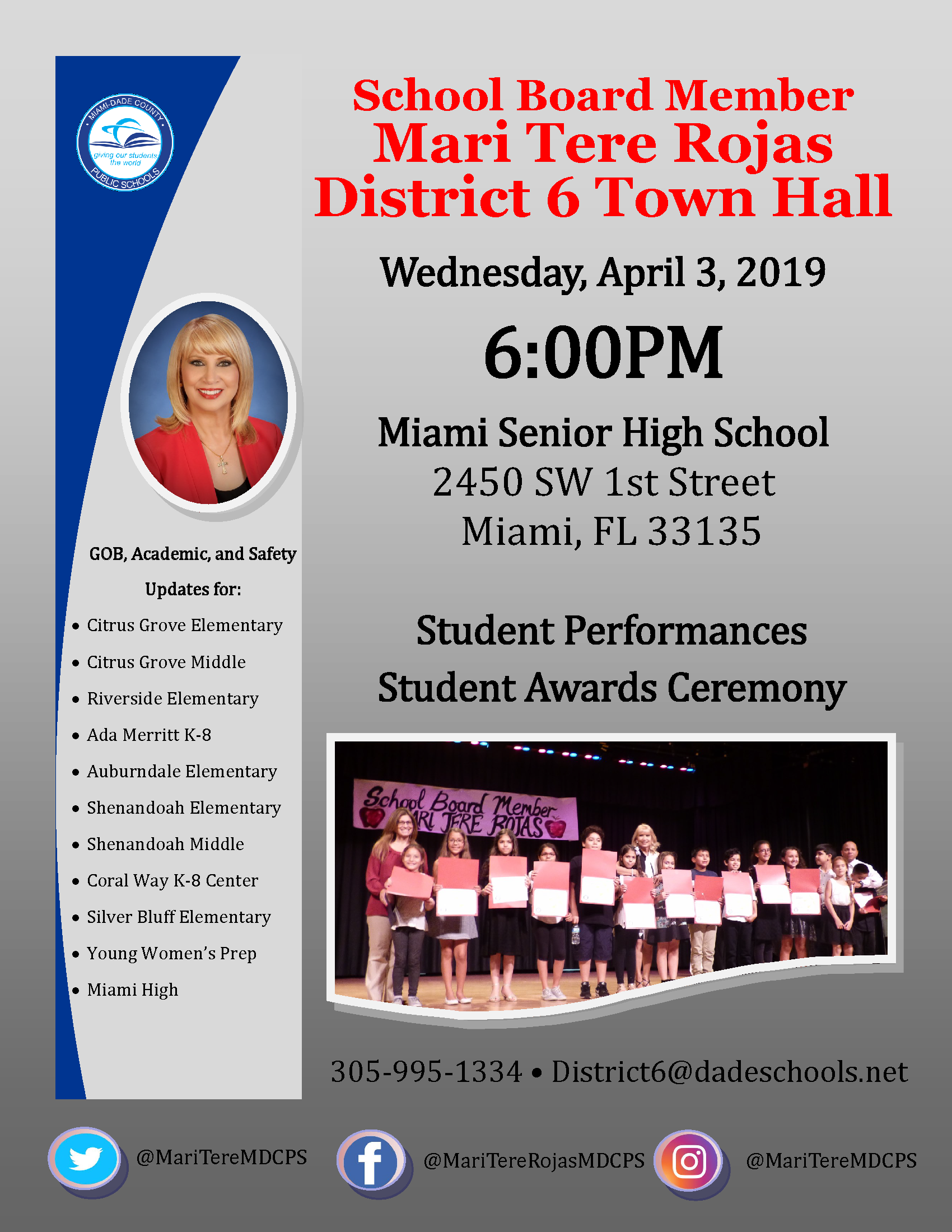 District 6 Town Hall Meeting @ Miami Senior High School